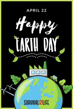 Let us do our part and make Earth a better place to live in. Happy Earth Day! Survival Blog, Survival Life, Survival Prepping, Survival Gear, Survival Skills, Doomsday Survival, Environmental Graphic Design, Happy Earth, Best Places To Live