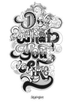 Do What You Like <3 | 35 Mind-Blowing Typography Font Design for Design Inspiration
