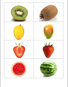 nl , search on each side the same fruit , free printable. Montessori Materials, Montessori Activities, Activities For Kids, Image Fruit, Flashcards For Kids, Fruits Images, Planting Seeds, Fruits And Vegetables, Preschool