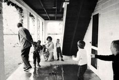 Jack, Jackie, and Caroline play with Bobby and Ethel's kids, 1959.