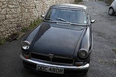 1976 Mg B Gt Black - No Tax Or Mot - Quick Project Or Great Parts   - http://classiccarsunder1000.com/archives/12628