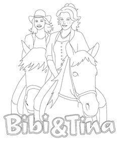 bibi und tina ausmalbilder pferde | Ausmalbilder | Pinterest