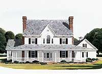 House Plan 95588 - Country, Farmhouse Style House Plan with 2932 Sq Ft, 4 Bed, 4 Bath, 2 Car Garage Country House Plans, Country Style Homes, Dream House Plans, Country Farmhouse, House Floor Plans, My Dream Home, Simple Farmhouse Plans, Country Chic, French Country