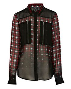 Warehouse OMBRE CHECK PRINT SHIRT