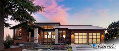 Overlook Show Home - contemporary craftsman - exterior - portland - Axiom Luxury Homes - Houses interior designs Contemporary Style Homes, Contemporary House Plans, Modern Homes, Rustic Contemporary, Rustic Modern, Garage Design, Exterior Design, Roof Design, Modern Exterior