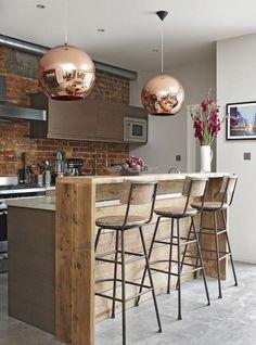 Stunning Industrial Furniture Ideas Decoration For Your Kitchen - Furniture - Outdoor Kitchen Ideas Home Decor Kitchen, Kitchen Styling, Industrial Decor Kitchen, Kitchen Bar Design, Kitchen Design, Industrial Style Kitchen, Kitchen Remodel, Best Kitchen Designs, Industrial Kitchen Design