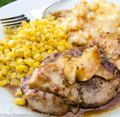 how to make thick tender pork chops in the oven served with mashed potatoes and corn. The 5 minute simple secret to tender pork chops is...