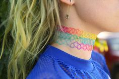 Rainbow chokers always beat the black ones hands down!