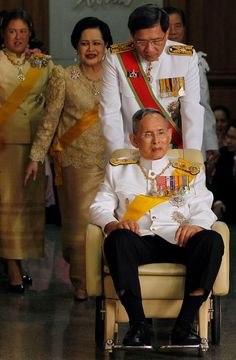If I ever need a wheelchair I'll make it cover with a magnificent colored leader. King Bhumibol Adulyadej of Thailand Dies at 88; Reigned 70 Years - The New York Times