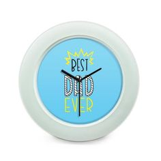 BigOwl   Best Dad Ever Typography  Table Clock Online India at BigOwl.in
