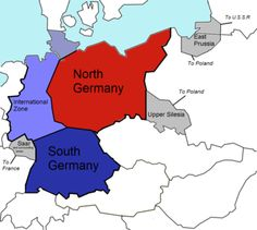 The Morgenthau Plan by US Secretary of the Treasury Henry Morgenthau, showing the planned partitioning of Germany into a North State, a South State, and an International zone. - Wikipedia