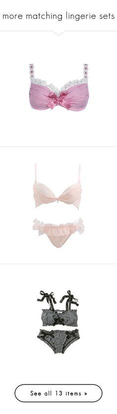 """more matching lingerie sets"" by brandileek ❤ liked on Polyvore featuring intimates, bras, lingerie, bra, bras & panties, underwear, lingerie bra, undies, panties and undergarments"