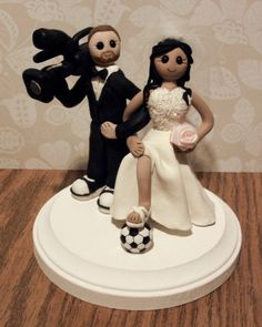Fun and unique themed wedding cake topper! Show your personalities or interests. Unique Cake Toppers, Wedding Cake Toppers, Cupcake Wraps, Themed Wedding Cakes, Just For Fun, Bride Groom, Party Supplies, Minnie Mouse, Disney Princess