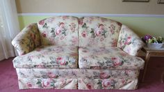 Chinz upholstered loveseats. Upholstery in excellent condition.  2 available.