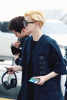 Mama suho in blonde♤ looking so handsome #suho #exo