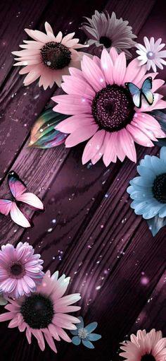 Cute Flower Wallpapers, Pink Wallpaper Backgrounds, Crazy Wallpaper, Happy Wallpaper, Flower Background Wallpaper, Cute Wallpaper For Phone, Flower Phone Wallpaper, Pink Wallpaper Iphone, Butterfly Wallpaper