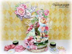 """Papermade Fairytale: """"Smell the Flowers"""" altered box with a Secret Garden in a Tea cup Altered Boxes, Altered Art, Exploding Boxes, Graphic 45, Brand Ambassador, Little Darlings, Creative Cards, Home Deco, Fairy Tales"""