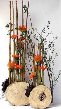Creative Flower Arrangements, Modern Floral Arrangements, Beautiful Flower Arrangements, Deco Floral, Arte Floral, Floral Design, Fall Flowers, Dried Flowers, Recycled Crafts