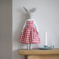 The website of Katy Livings, textile designer, baker and maker. Rabbit Crafts, Fabric Animals, Fabric Toys, Sewing Dolls, Diy Doll, Handmade Toys, Doll Accessories, Doll Patterns, Sewing Crafts