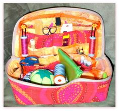 Sew a Zippered Sewing or Craft Supply Basket