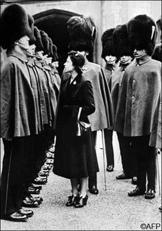 Her Majesty The Queen inspecting her Grenadier Guards!