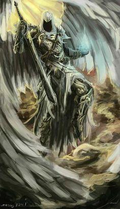 Anjo guerreiro - base da tattoo