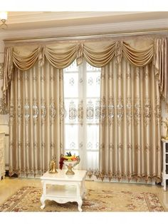 Curtains With Valance For Living Room Dulux Grey Colour Schemes Rooms 20 Best Luxury Images Velvet Embroidered Window Bedrooms Hotel Khaki Fabric Tulle Home Rideaux Furnishing