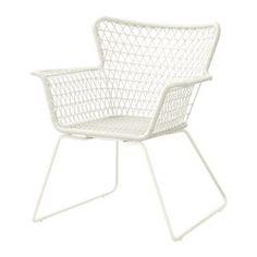 HÖGSTEN Armlehnstuhl/außen, weiß - IKEA
