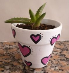 Amor suculento | Maceta pintada a mano en acrílico con plantitas suculenta. Flower Pot Art, Flower Pot Crafts, Clay Pot Crafts, Flower Pot People, Clay Pot People, Painted Plant Pots, Painted Flower Pots, Ceramic Pots, Clay Pots