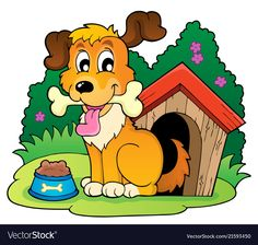 Image with dog theme 4 vector image on VectorStock Dog Illustration, Animal 2, Vector Free, Vector Stock, Squirrel, Adobe Illustrator, Coloring Books, Dog Cat, Clip Art