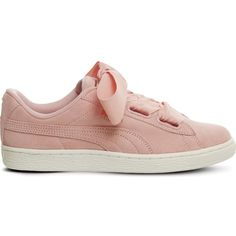 PUMA Suede Heart suede trainers (205 TND) ❤ liked on Polyvore featuring shoes and sneakers
