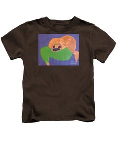 Patrick Francis Designer Kids Coffee T-Shirt featuring the painting Otter by Patrick Francis