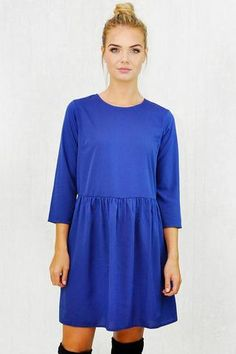 Swing Dress, Dresses With Sleeves, Long Sleeve, Casual, Collection, Fashion, Gowns With Sleeves, Moda, Full Sleeves