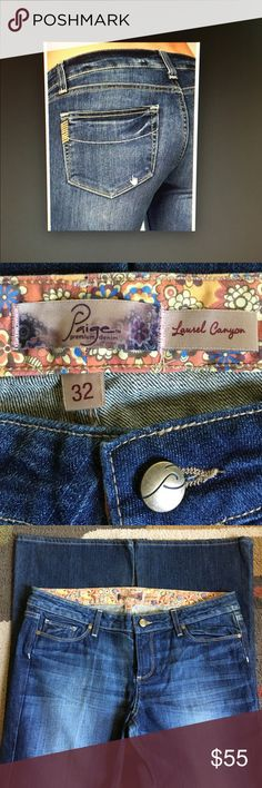 """Paige jeans  NWT Style is laurel canyon low waist boot cut material is 98% cotton 2% spandexinseam is 33"""" Anthropologie Jeans Boot Cut"""