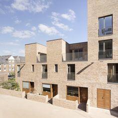 Landscape Architecture Drawing, Brick Architecture, Urban Architecture, Residential Architecture, Site Analysis Architecture, Brentford, Residential Complex, Brick Facade, Social Housing