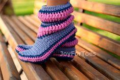 #Crochet #Slippers #Women #Shoes #Crocheted #Boots by #JoyForToes