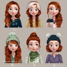 Princesas Disney ganham penteados inspirados no Pinterest