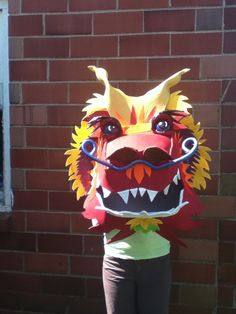 This is a light weight Dragon head for a prop for Chinese Tea dance for a Nutcracker production.The rest of the Dragon will be created with hoops and material.