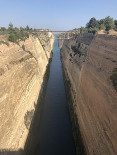 Corinth Canal in Greece || Click on the photo to discover the most incredible destinations with us :)
