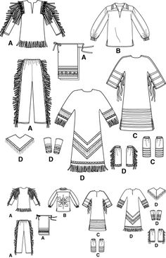 native american women's dress pattern | Patterns › Simplicity › Costumes › 5448