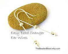 20PCS vente en gros Leverback Earring Findings Gold Shell Leaf Hoop Earring Clip À faire soi-même