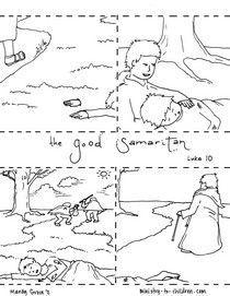 the good samaritan maze - kids korner - biblewise | church busy ... - Good Samaritan Coloring Pages