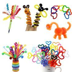 f5202c42aeb 100pcs Kids DIY Handmade Educational Stick Plush Wool Wire Flexible  Flocking MaterialsPipe Flocking Hair Toys Mother