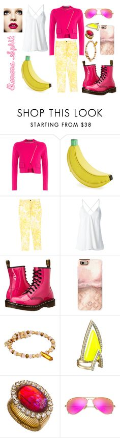 """""""Banana Split"""" by sophia-pawz ❤ liked on Polyvore featuring Roland Mouret, Kate Spade, STELLA McCARTNEY, Dondup, Dr. Martens, Casetify, Alex and Ani, Alexis Bittar, Janis Savitt and Ray-Ban"""