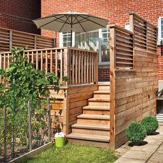 Un palier bien protégé - Patio - Inspirations - Jardinage et extérieur - Pratico Pratique