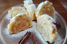 Zcela jednoduchá jablková roláda | NejRecept.cz Ice Cream, Treats, Cheese, Cooking, Sweet, Food, Pastries, Drinks, Bakken
