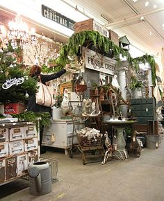 booth look - urban industrial and greenery