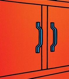 Patrick Caulfield - We wanted to bleed the silence (Cristea 38 m), 1973 Yayoi Kusama Pumpkin, Art Design, Graphic Design, Curtain Drawing, Jeremy Deller, Pop Art, James Rosenquist, Flat Earth Society, Art Deco