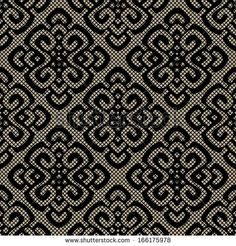 Black lace damask pattern, seamless vector textures. illustration with elegance veil