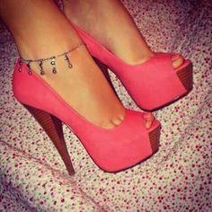 #heels#salmon